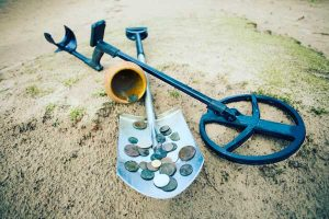 Coins metal detecting