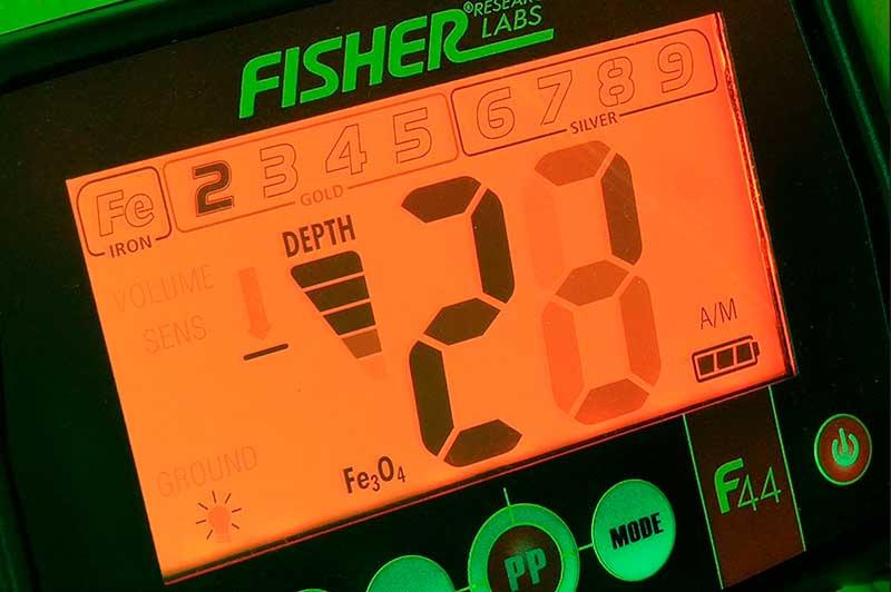 Fisher F44 backlit display