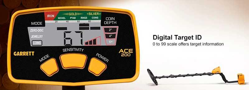 Garrett ACE 200 Digital Target ID